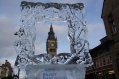 Ice-Sculpture-Trail-Darlington-Clock