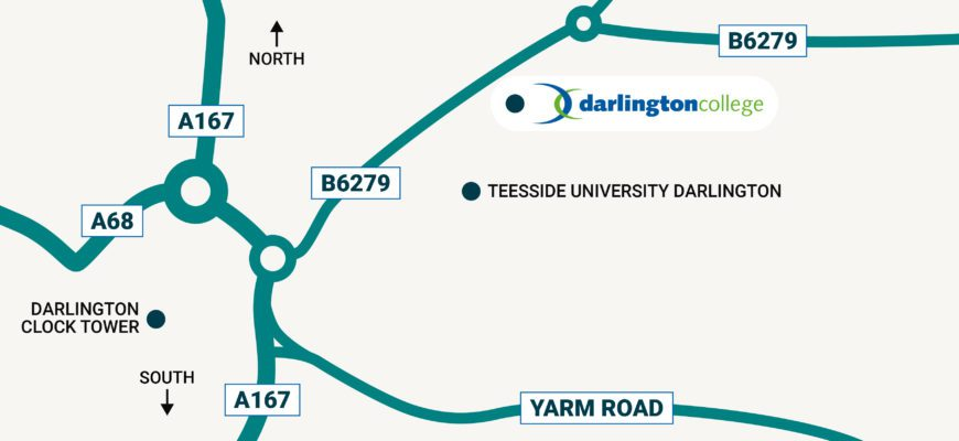Darlington College map